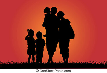Family Silhouettes - Illustration