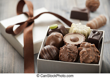 chocolates - assorted chocolates confectionery in their gift...
