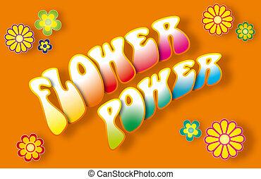 Flower Power Lettering - Flower power lettering with floral...