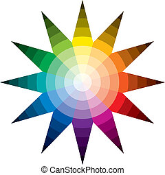 Color Star - Twelve basic colors in a circle, forming a...