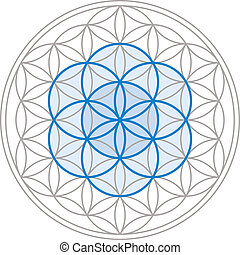 Seed Of Life In Flower Of Life - Seed of Life in the center...