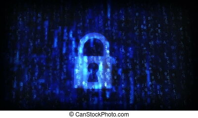Cracked security code abstract image Password protection...