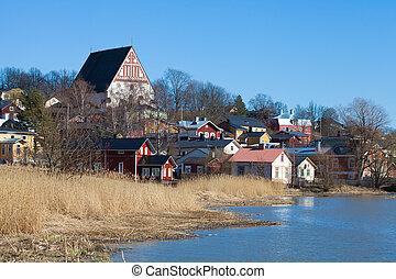 Porvoo old town Linnamaki,  viking fortress site
