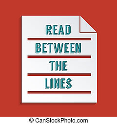 Double meaning - Concept for Reading between the lines....