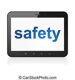 Security concept: Safety on tablet pc computer