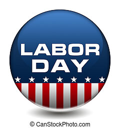 American Labor Day Badge
