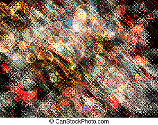 Multicolored sparkling bokeh abstract backgroundDigitally...