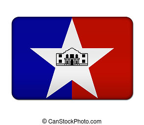 San Antonio flag button