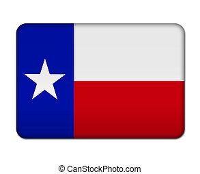 Texas flag button