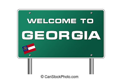 Welcome to Georgia road sign illustration