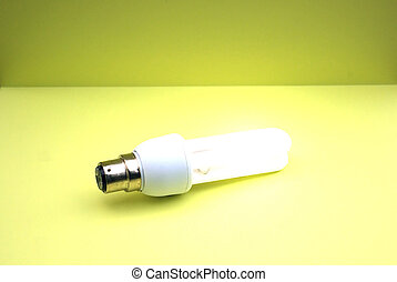 Low-energy bulb - Illustration of a lit energy efficient...