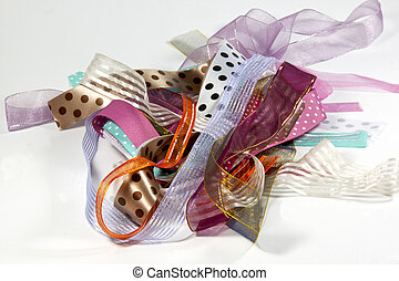 Cluster of Ribbons with Variety of Textures