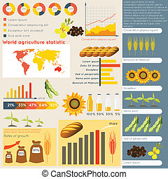 Agriculture infographic elements - Agriculture farming...