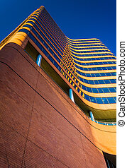 Modern skyscraper in downtown Baltimore, Maryland. - Modern...