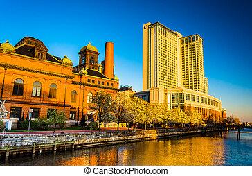 巴爾的摩,  marriot, 港口, 博物館, 旅館, 馬里蘭, 東方, 濱水區, 工作, 公眾