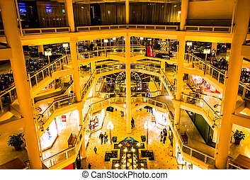 The interior of The Gallery in Baltimore, Maryland. - The...