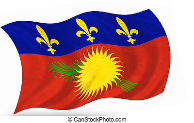 Guadeloupe - 3D flag of Guadeloupe (french island region)