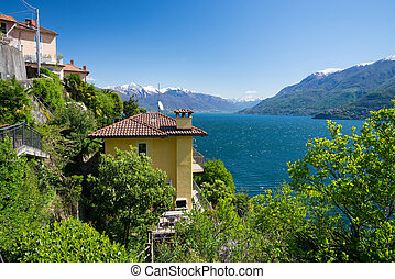 View onto Lago Maggiore - View from little village San...