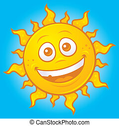 Happy Sun - Vector cartoon drawing of a happy sun.