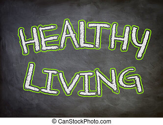 Healthy Living chalkboard