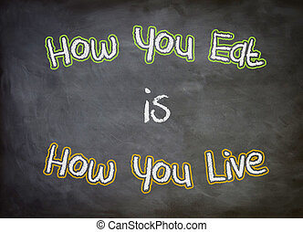 how you eat is how you live