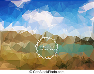 Beautiful polygon landscape - Beautiful polygon...