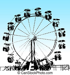 Grunge Ferris Wheel - An image of a grunge ferris wheel.