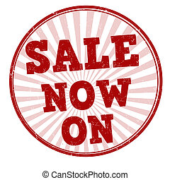 Sale now on stamp - Sale now on grunge rubber stamp on...