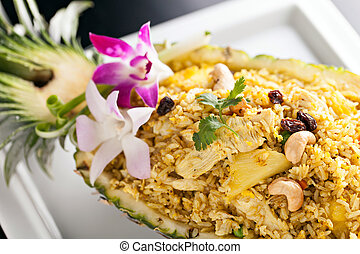 Pineapple Fried Rice - Freshly prepared pineapple fried rice...