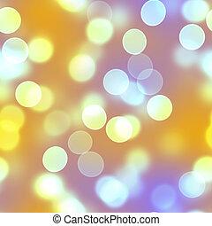 Golden Bokeh Circles
