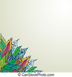Vector texture with abstract flowers