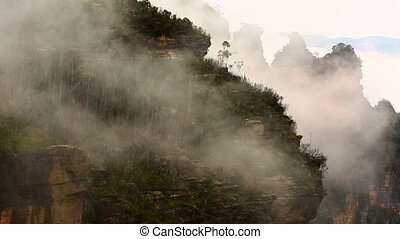 Mountain mist - Fog rising in the mountains