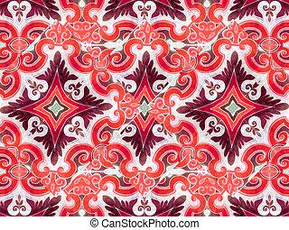 Ornament Swirls Retro Background - Ornament retro style...