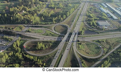Aerial of Interstate Junction 3 - Low-level...