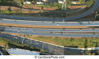 Aerial of Interstate Junction 4 - Low-level...