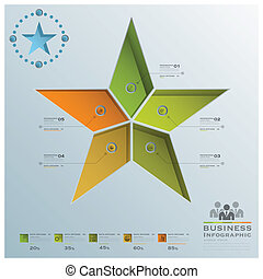 Star Shape Business Infographic Design Template
