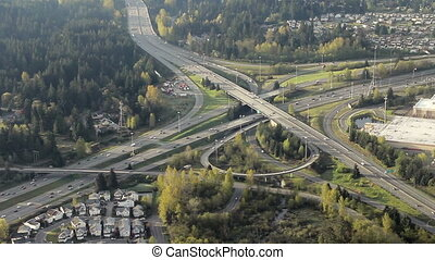 Aerial of Interstate Junction 5 - Low-level...