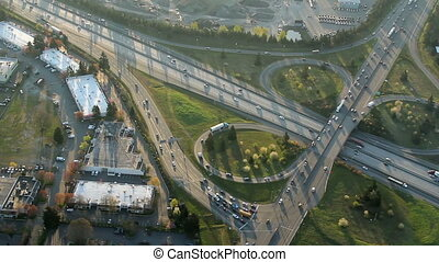 Aerial view of Interstate Junction - Low-level...