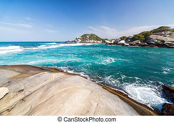 Tayrona National Park - Turquoise Caribbean Sea as seen in...