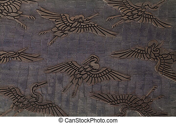 Wooden carving texture
