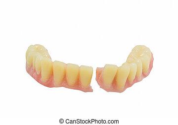 dentadura, quebrada