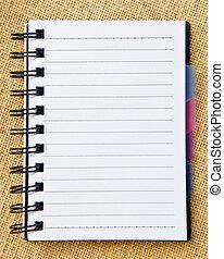 open ring binder - open diary ring binder on sack...