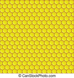 Honeycomb background vector illustration - Yellow honeycomb...