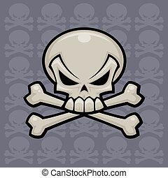 Skull and Crossbones - Skull and crossbones vector...