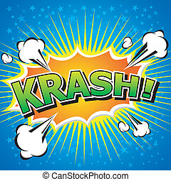 krash! - Comic Speech Bubble. - Comic Speech Bubble,...