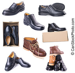 shoe mans shoe collection on a background