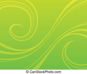 Green Swirl Background - Swirly green vector background