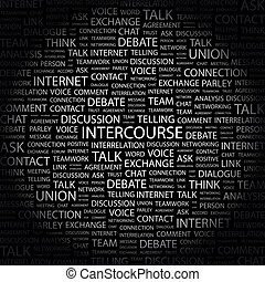 INTERCOURSE. Word cloud concept illustration. Wordcloud...