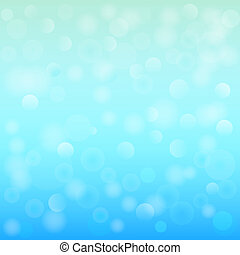 Blue bokeh abstract light background. Vector illustration.