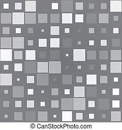 Gray background with different size squares